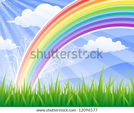 Summer rainbow (vector)