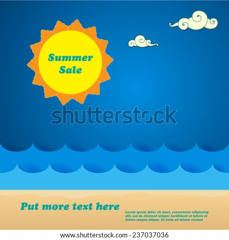 Summer sale background and poster - Vector format