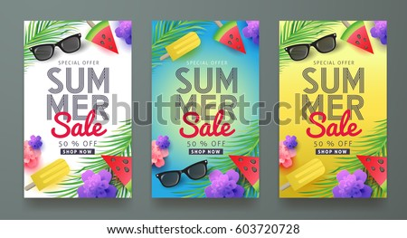 Summer Sale Background Layout For BannersWallpaperflyers Invitation Posters Brochure