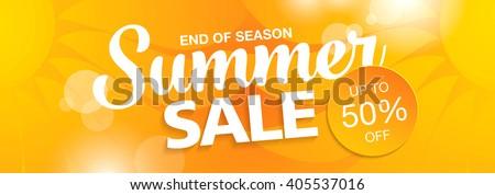 summer sale banner - stock vector