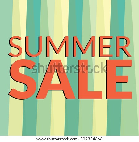Summer Sale collection, Summer Sale Vector Typography, Text design on background. - stock vector