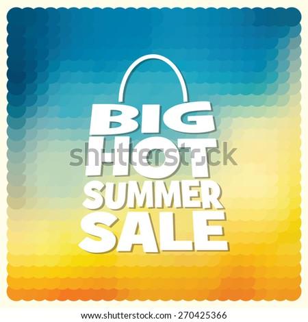 summer sale design template - stock vector