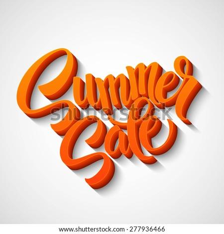 Summer sale message on orange background EPS 10. - stock vector