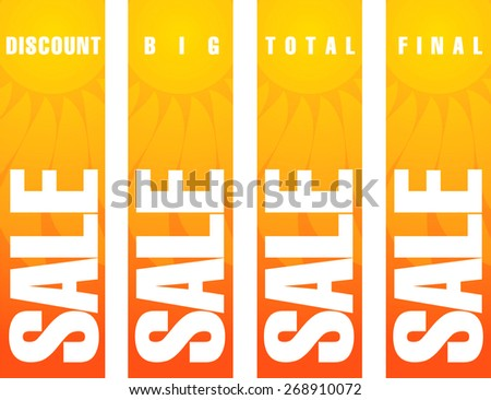 Summer sale poster - stock vector