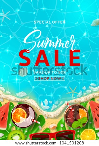 Summer Sale Promo Flyer Template Top Stock Photo Photo Vector