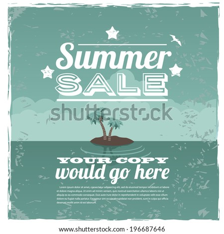 Summer Sale Promotional Background. EPS 10 vector, grouped for easy editing/ No open shapes or paths. - stock vector