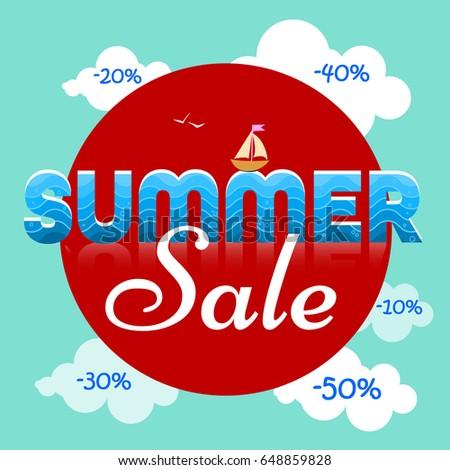 summer sale sign stock vector 648859828 shutterstock