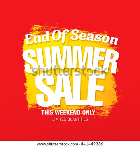 Summer sale. Vector template banner