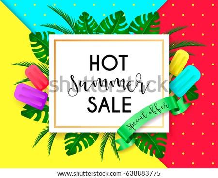 Summer Sale Vivid Layout Design Ice Stock Photo (Photo, Vector ...