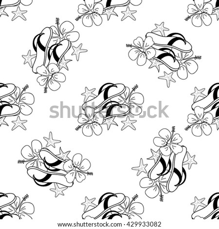 Summer sketch pattern. Use for textiles, souvenirs, web pages elements, cards, pattern fills and etc.