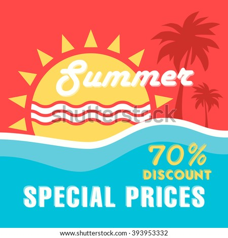 summer special price sale design template. - stock vector