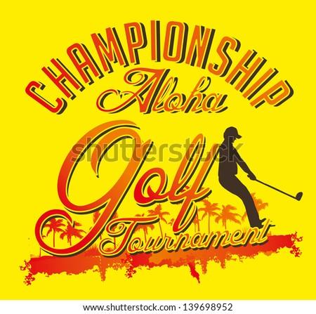 summer sports golf player vector art - stock vector