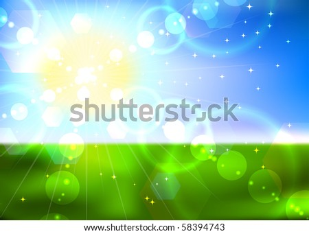 Summer sun vector background. EPS10 file. - stock vector