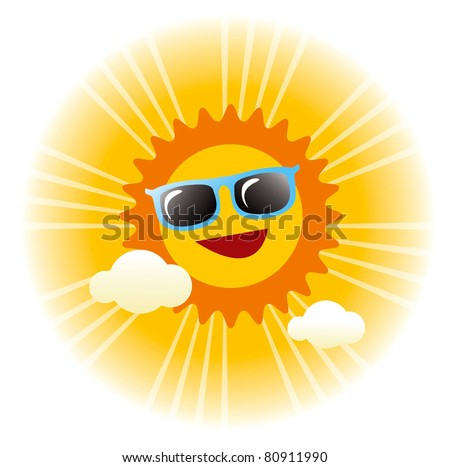 summer sunny day vector graphic - stock vector