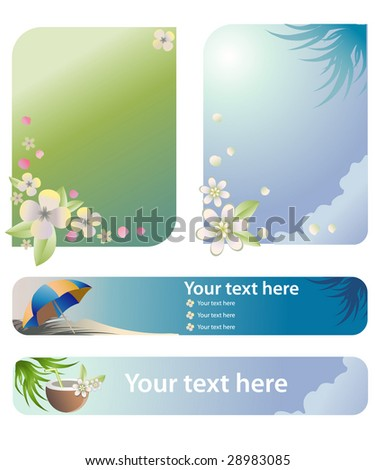 summer theme illustration for banner of header