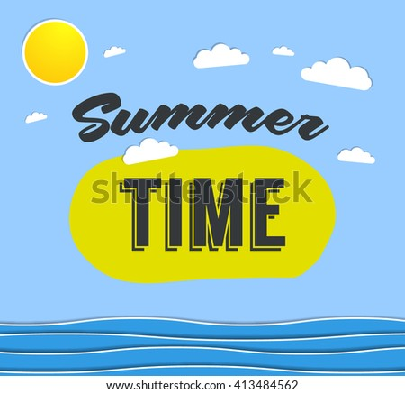 Summer time background with text