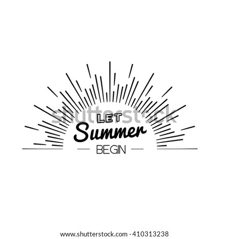 Summer Time Logo Templates. Isolated Typographic Design Label. Summer  Holidays Lettering For Invitation,