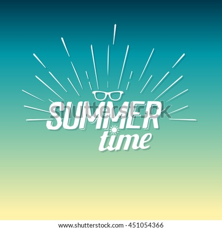 summer time poster - stock vector