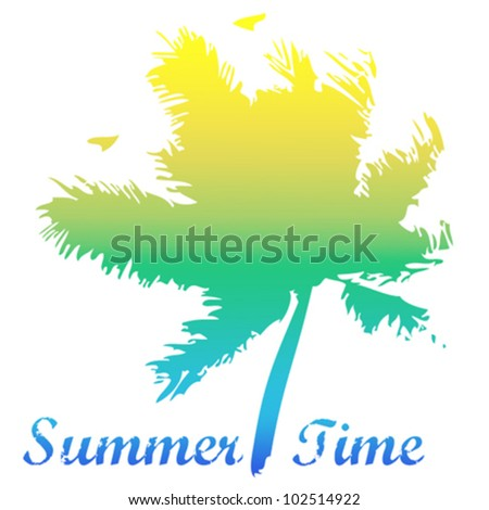 Summer Time - vector background - stock vector