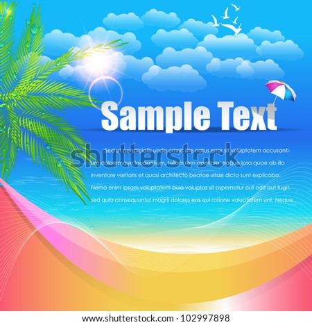 Summer Time Vector Design