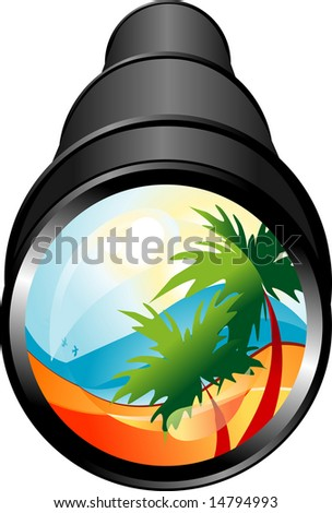 Summer travel sign - stock vector