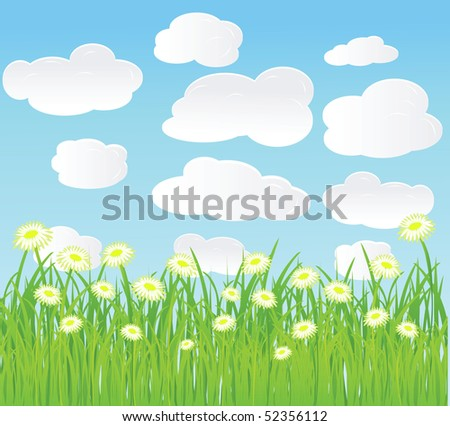 summer vector background.