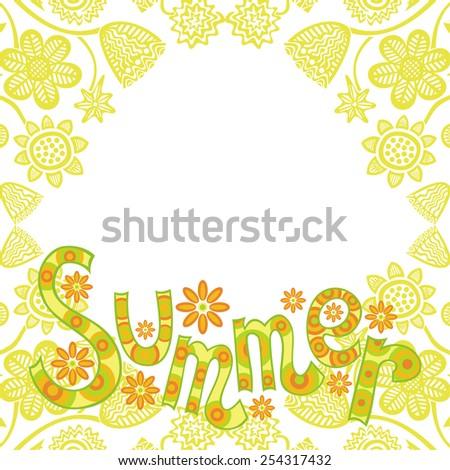 Summer vector illustration - stock vector