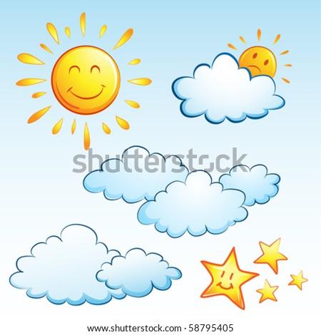 summer weather - stock vector