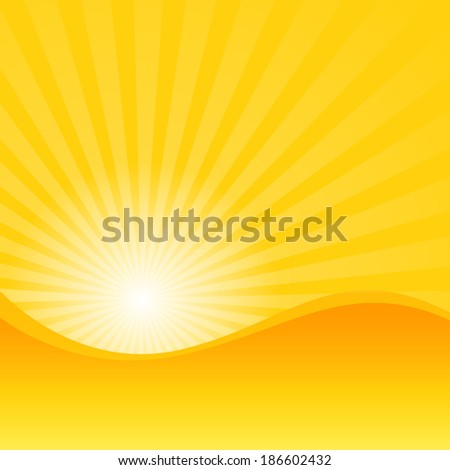 summer yellow with sun shine ray background (vector)