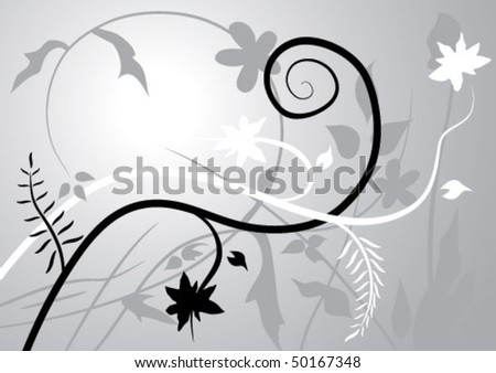summers day grayscale sample background - stock vector