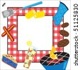 Summertime Picnic Party Invitation - stock photo