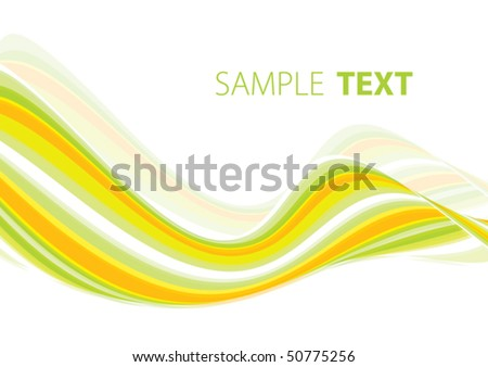Summery wave. Vector