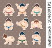 sumo player stickers - stock photo