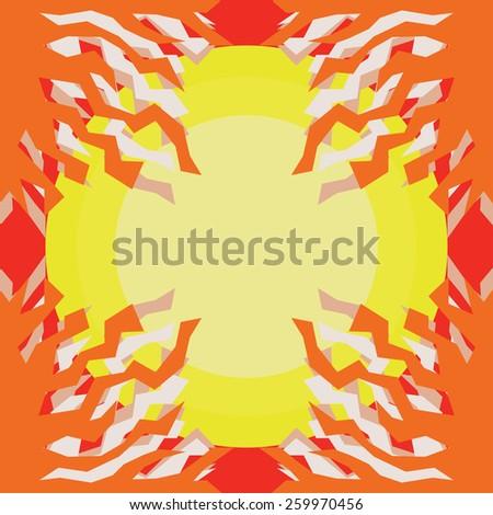 Sun Abstract Pattern - stock vector