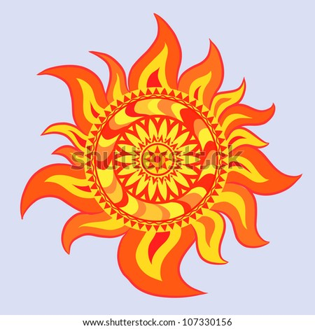 Sun, abstract vector illustration - stock vector