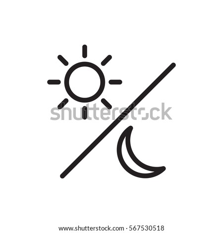 sun moon icon illustration isolated vector stock vector 567530518 rh shutterstock com Sun and Moon Tattoos Sun and Moon Drawings