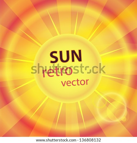 sun background - stock vector