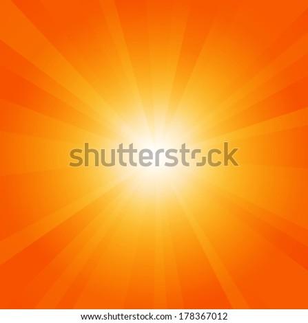 Sun background with shining rays. Sunbeams. Sun-rays. Vector illustration - stock vector