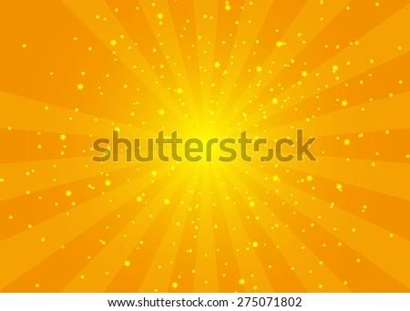 Sun beams abstract background. Vector illustration. - stock vector