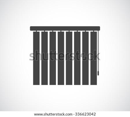 sun blinds - window jalousie icon - stock vector