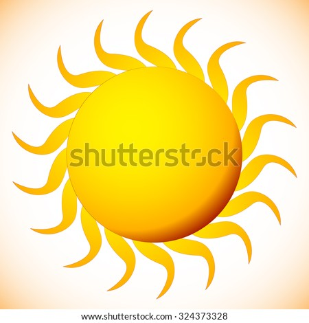 sun clip art on white editable stock vector 324373328 shutterstock rh shutterstock com Cartoon Sun Vector Sun Rays Vector