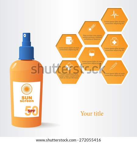 Sun dangers vector illustration - stock vector