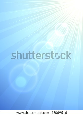 Sun flare vertical vector background. Eps10 file.