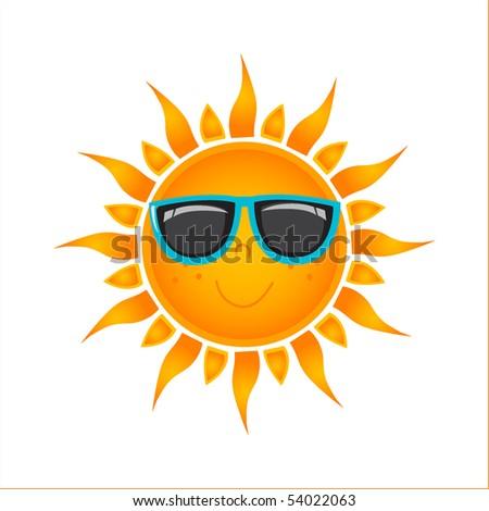 Sun icon. vector format - stock vector
