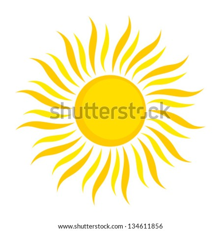 Sun icon. Vector illustration on white background - stock vector