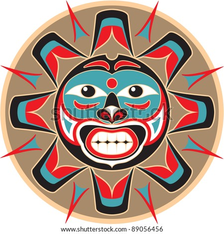 Sun - Native American Style Vector
