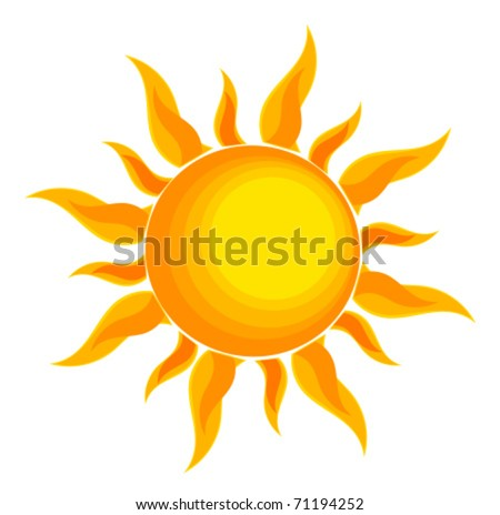 Sun over white - vector illustration - stock vector