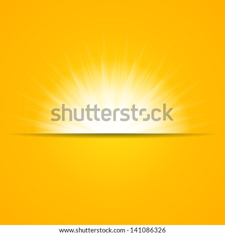 Sun Rays Background. Beautiful Sunny Backdrop. - stock vector
