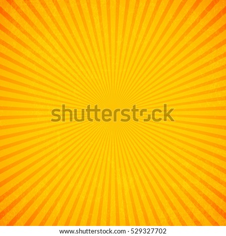 Sun rays, Old paper with stains - Vector