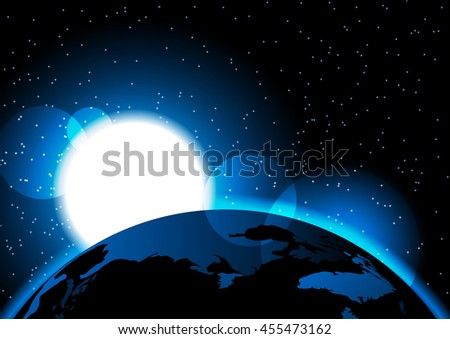 Ufo night forest 3d stock illustration 483350884 for Outer space elements